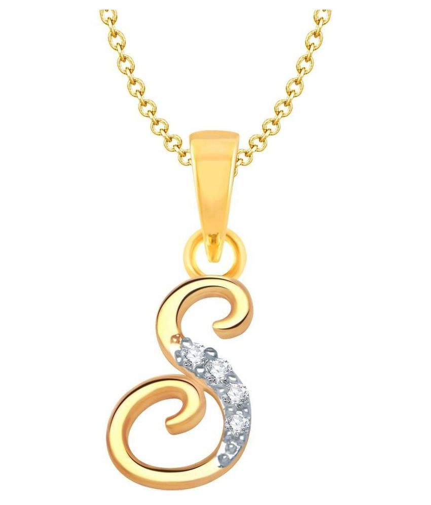 Mahi Gold Plated Combo Of S Pendant Heart Bracelet For Women Co1104593g