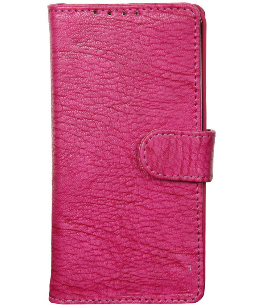Samsung Galaxy J1 Ace Flip Cover by Dsas - Pink