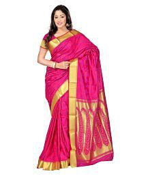 Viva N Diva Pink Art Silk Saree