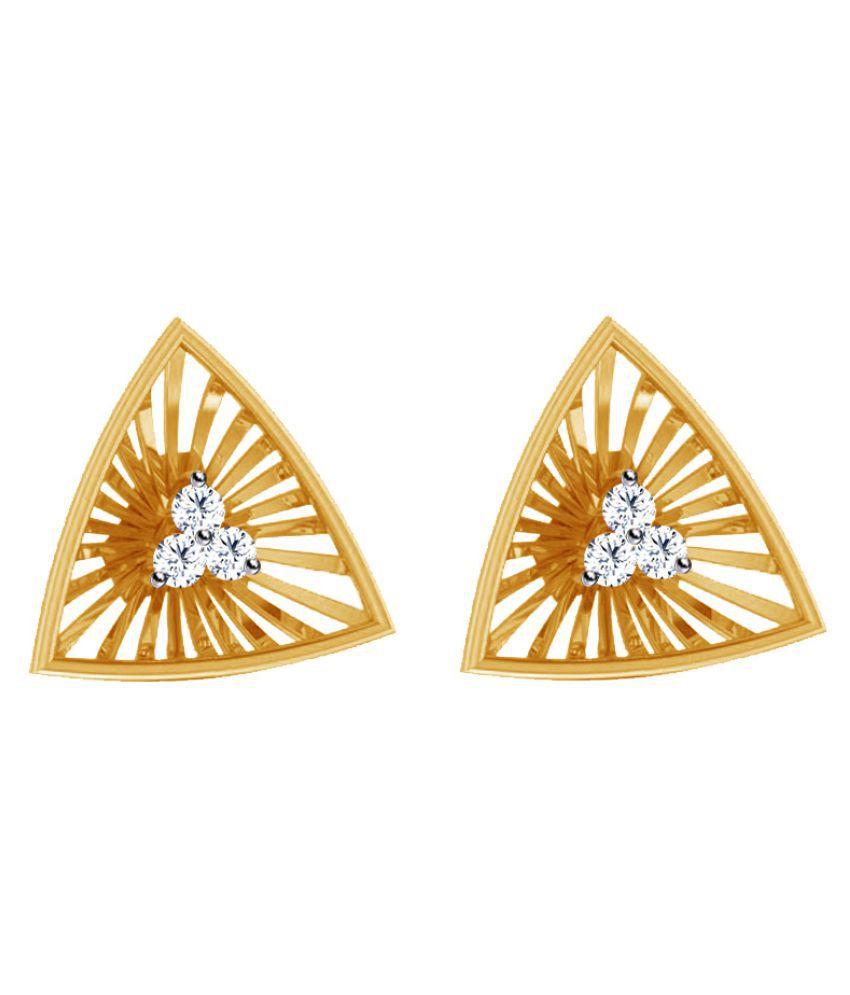 Jacknjewel 18k BIS Hallmarked Yellow Gold Diamond Studs