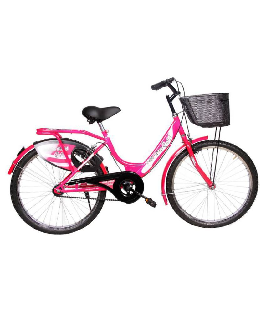 129b6edc19d Hero Miss India Gold 24T Pink 60.96 cm(24) Comfort bike Bicycle Adult  Bicycles/Women Bicycle: Buy Online at Best Price on Snapdeal