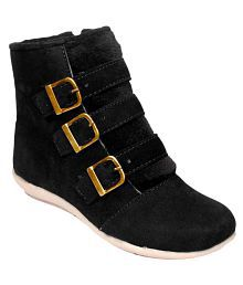 Averlite Black Ankle Length Bootie Boots