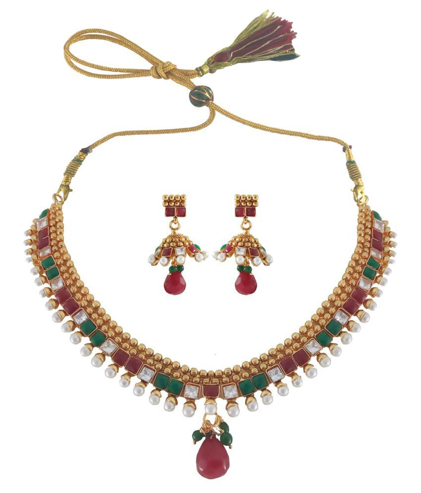 Rejewel Multicolour Necklace Set