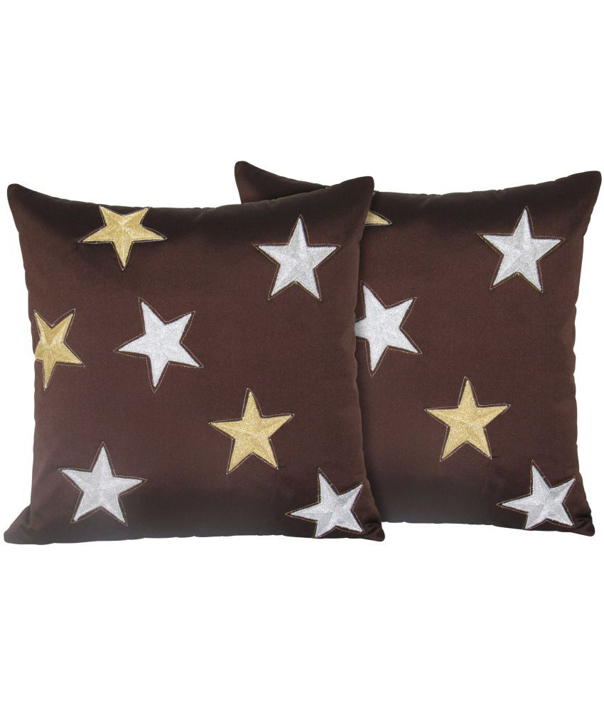Hemden Set of 2 Polyester Cushion Covers 40X40 cm (16X16)