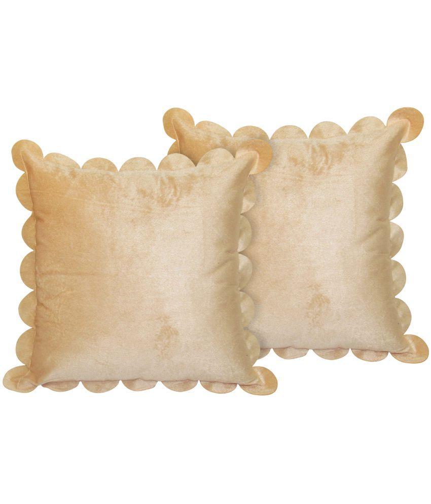 Hemden Set of 2 Velvet Cushion Covers 40X40 cm (16X16)