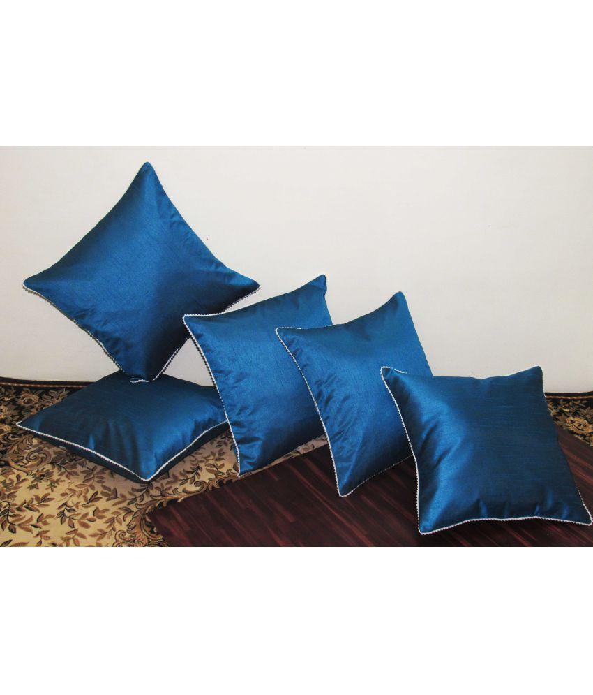 Hemden Set of 5 Poly Dupion Cushion Covers 30X30 cm (12X12)