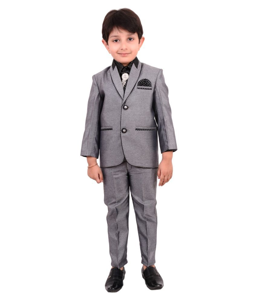 2403bb4f732 Boys Coat Suit with Shirt Pant and Tie For Kids - Buy Boys Coat Suit with  Shirt Pant and Tie For Kids Online at Low Price - Snapdeal