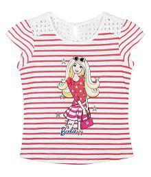 Barbie White T-Shirt for Girls