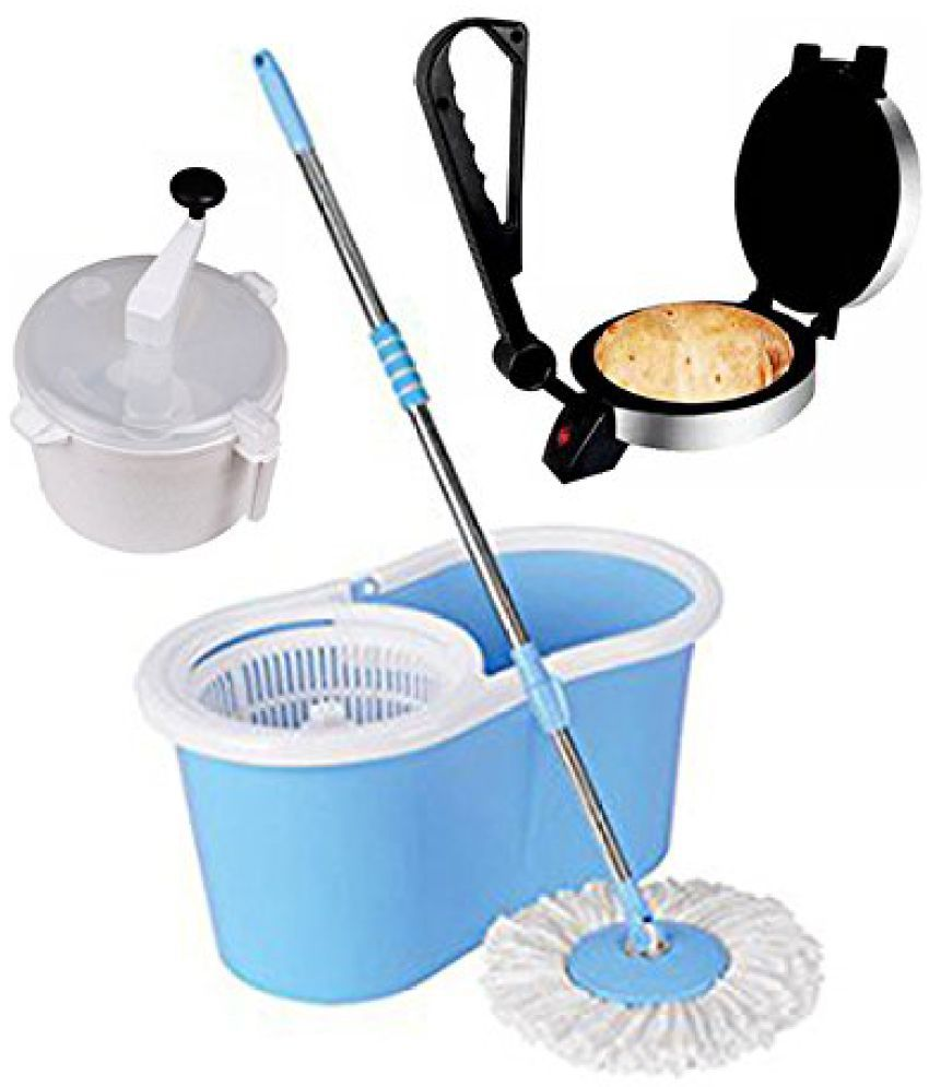 Split Spray Floor Mop: Eco Shopee Best Single Bucket Mop 360 Rotating Floor
