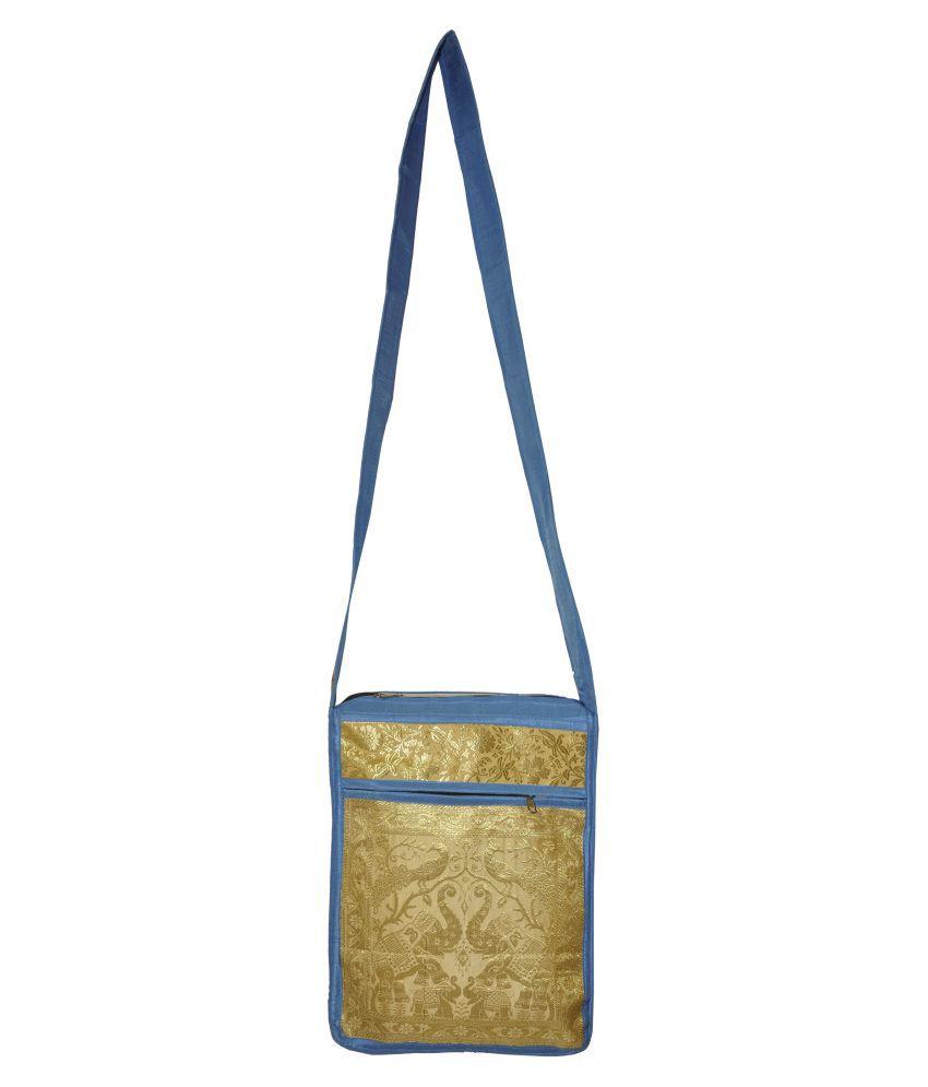 Lal Haveli Golden Brocade Shoulder Bag