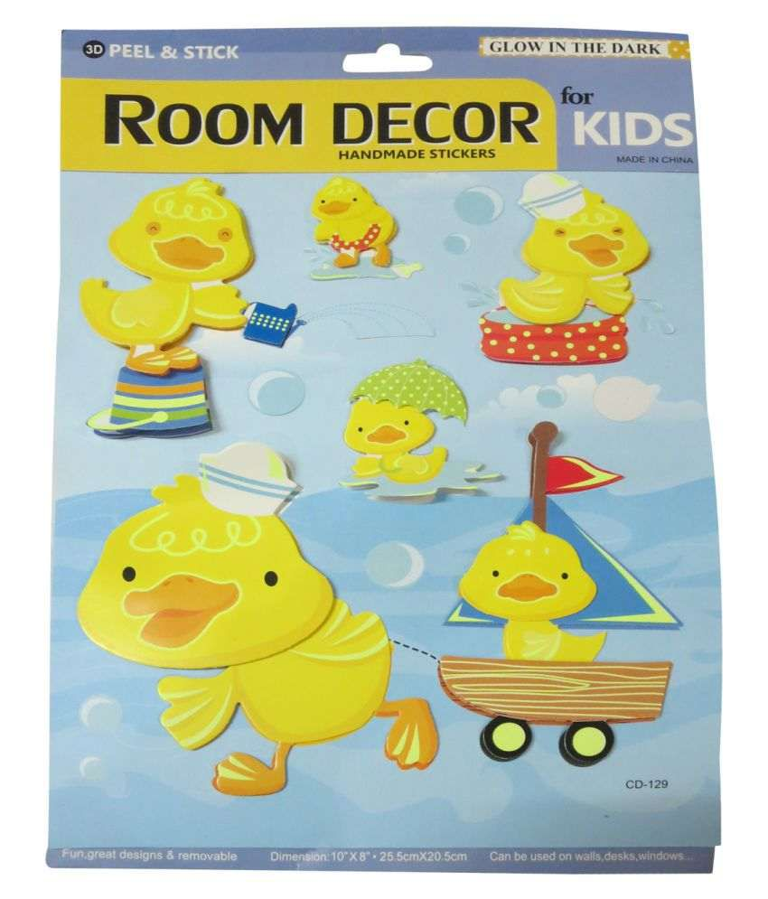 DCS Room Decor Handmade Stickers Glow in the Dark Cartoon Wall ...