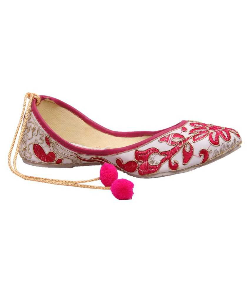 Fashbeat Pink Flat Ethnic Footwear