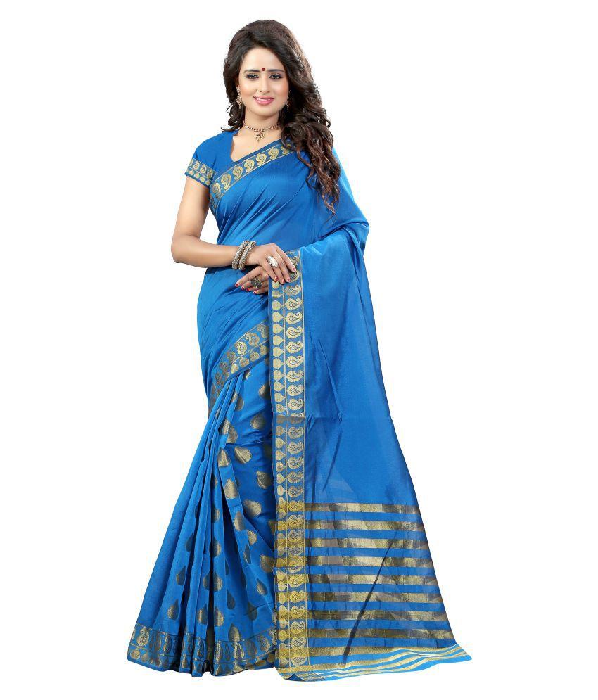 Shree Sondarya Bandhani Blue Tussar Silk Saree