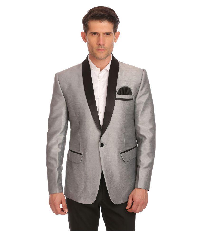 Wintage Silver Solid festive Blazers