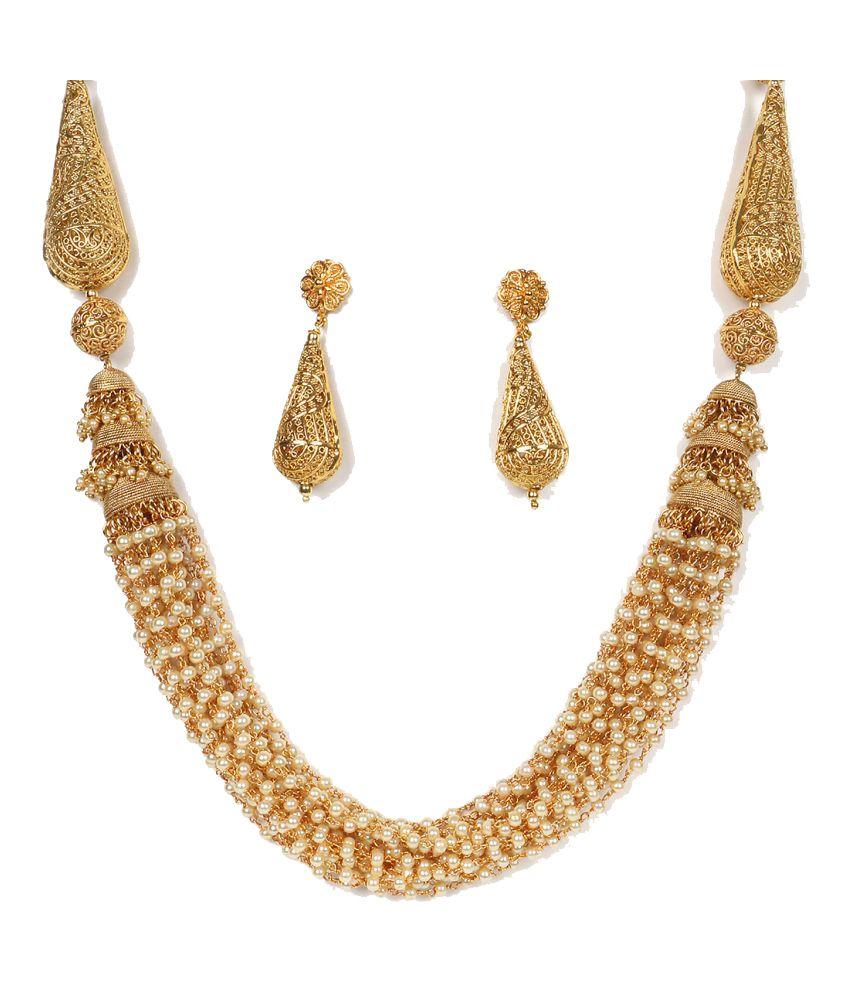 Krupam Golden Handcrafted Necklace Set