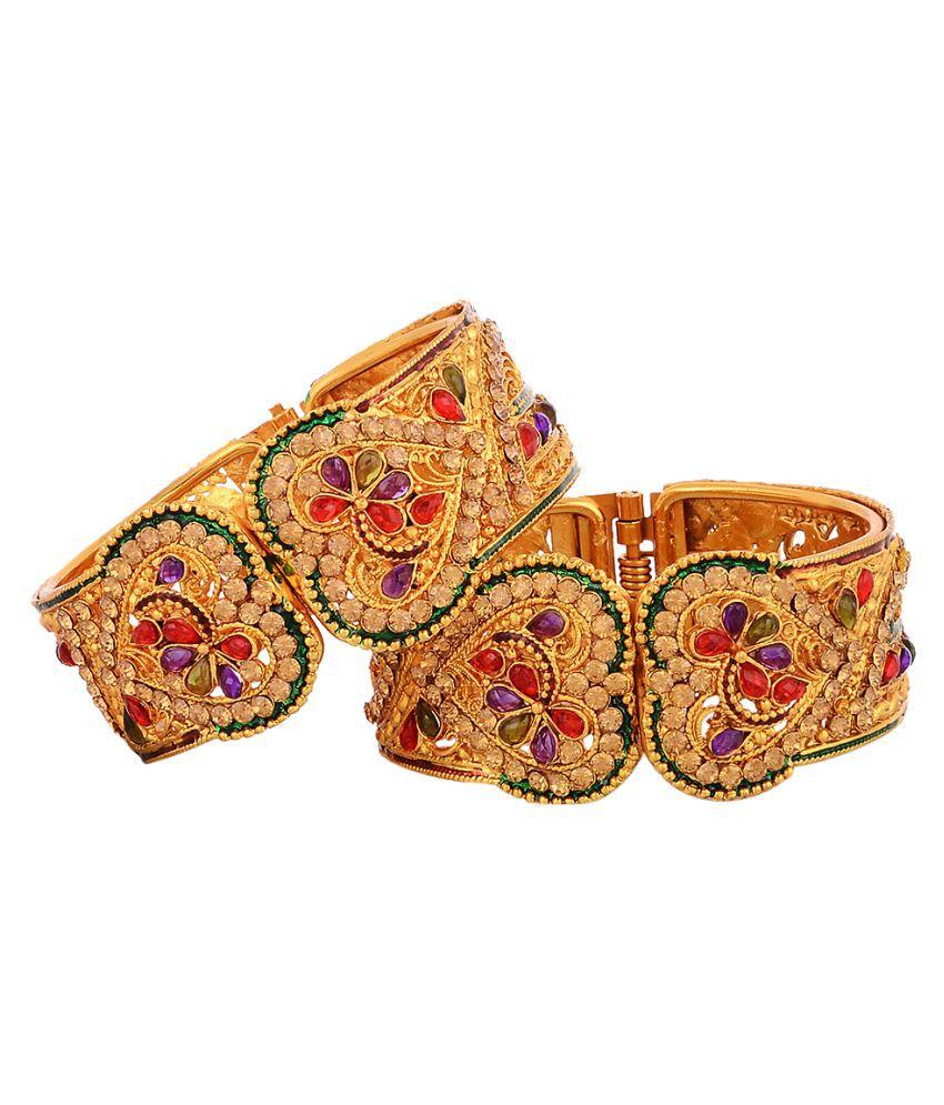 Zeneme Golden Designer Bracelet for Girls (Pack of 2): Buy Zeneme ...