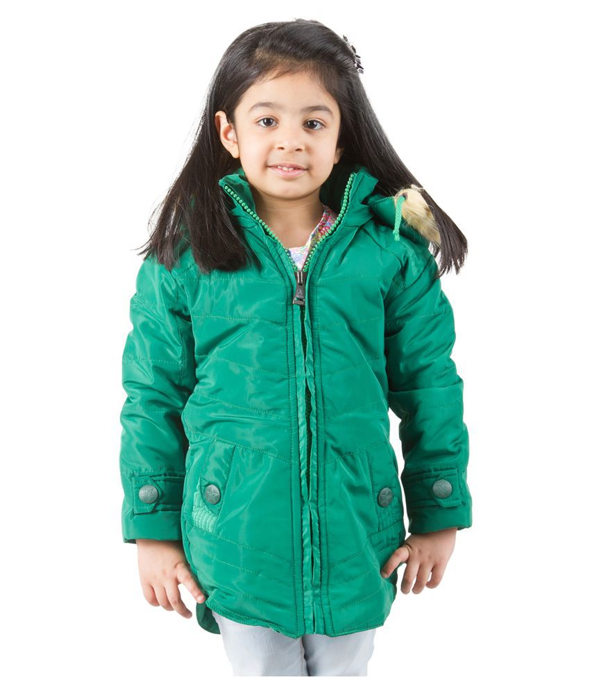 Burdy Green Nylon Quilted And Bomber Jacket