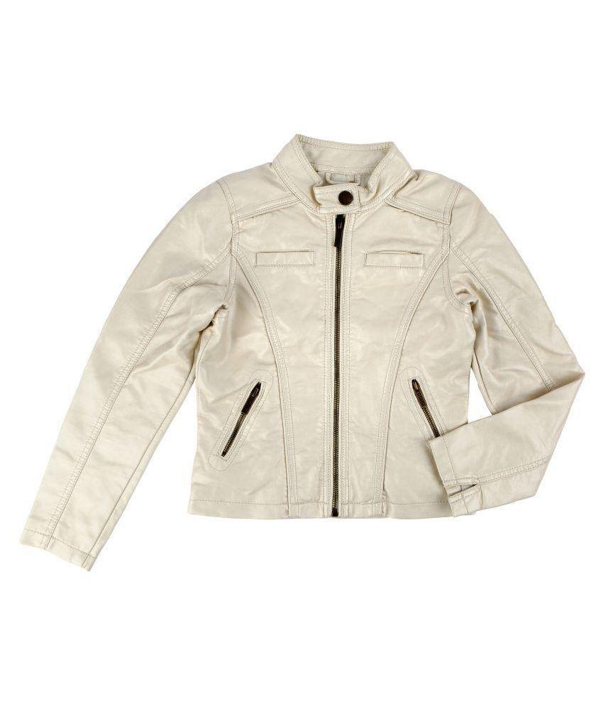 One Friday Off White Leather Jacket