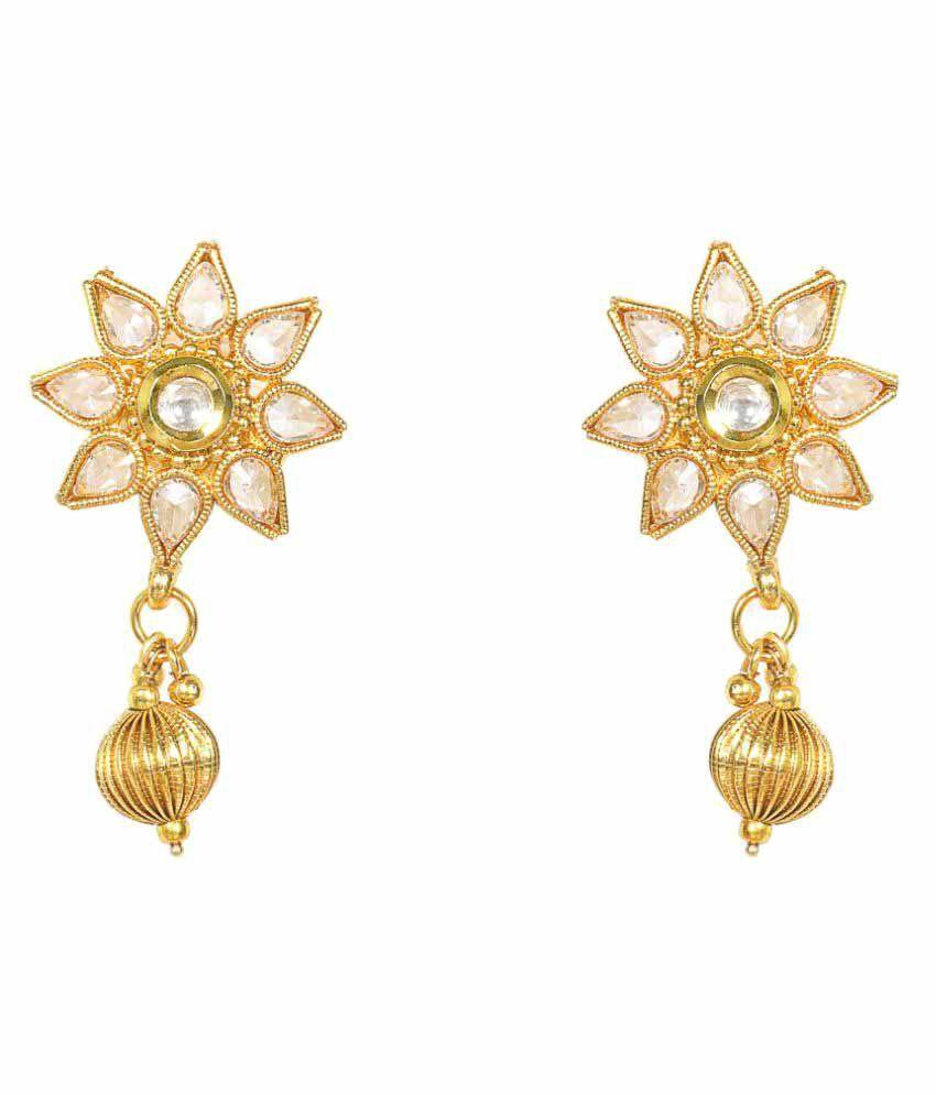 Penny Jewels Alloy White Pearls Earrings