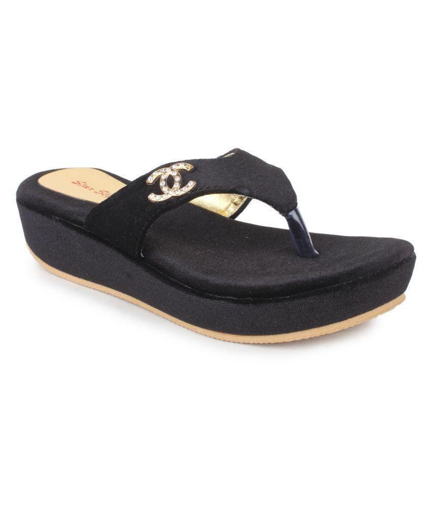 Star Style Black Flats