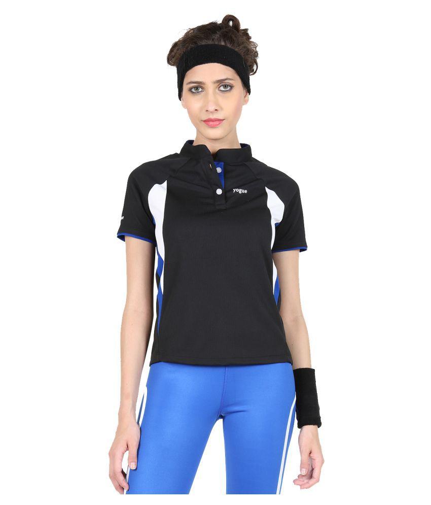 Yogue Black Marathon Collar T-Shirt