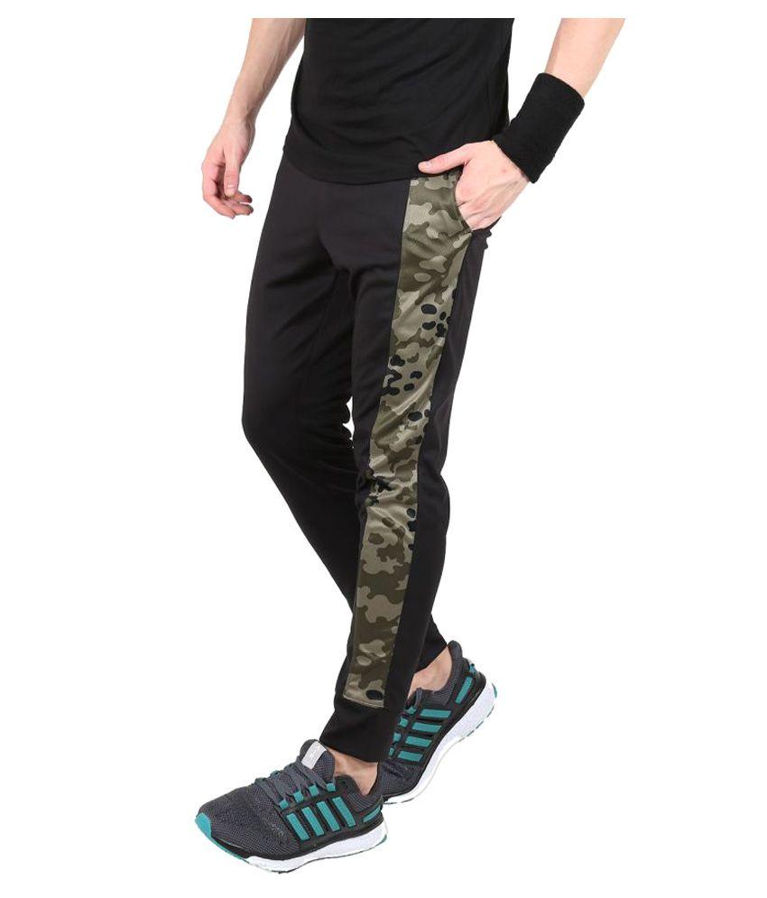 Black Camo Print Bottomwear