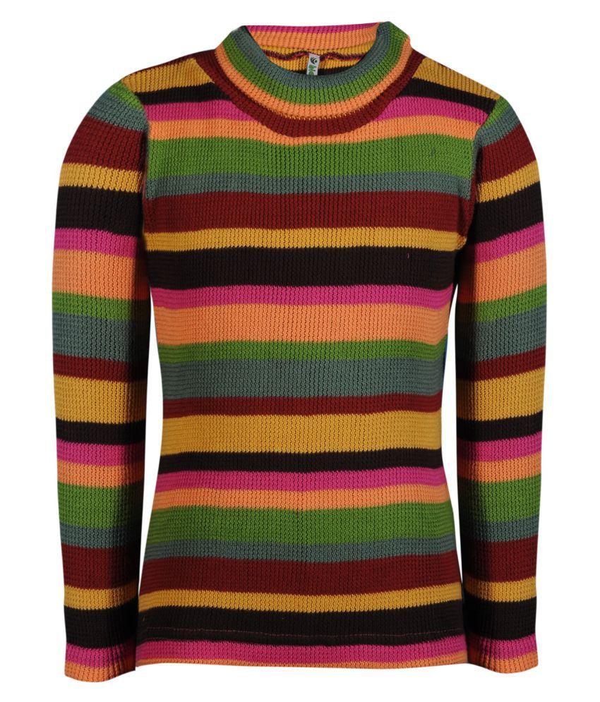 Bio Kid Multicolour Full Sleeve Girl's Sweatshirt