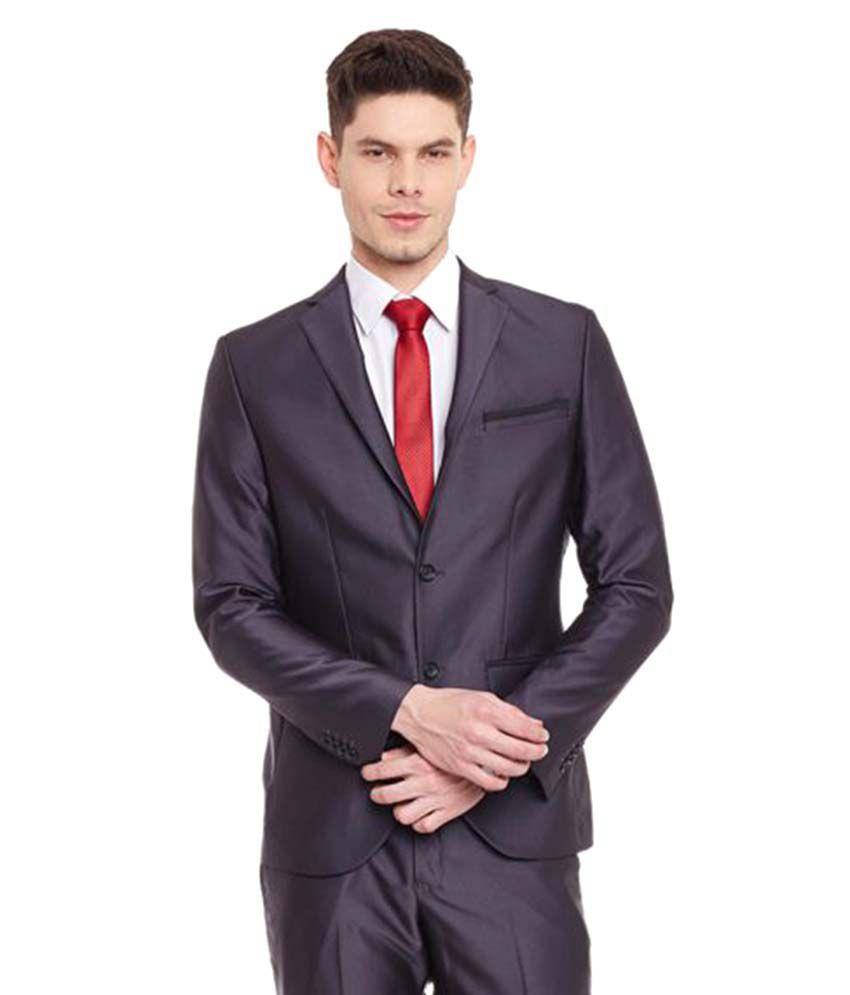 Envoy Grey Plain Wedding Suit