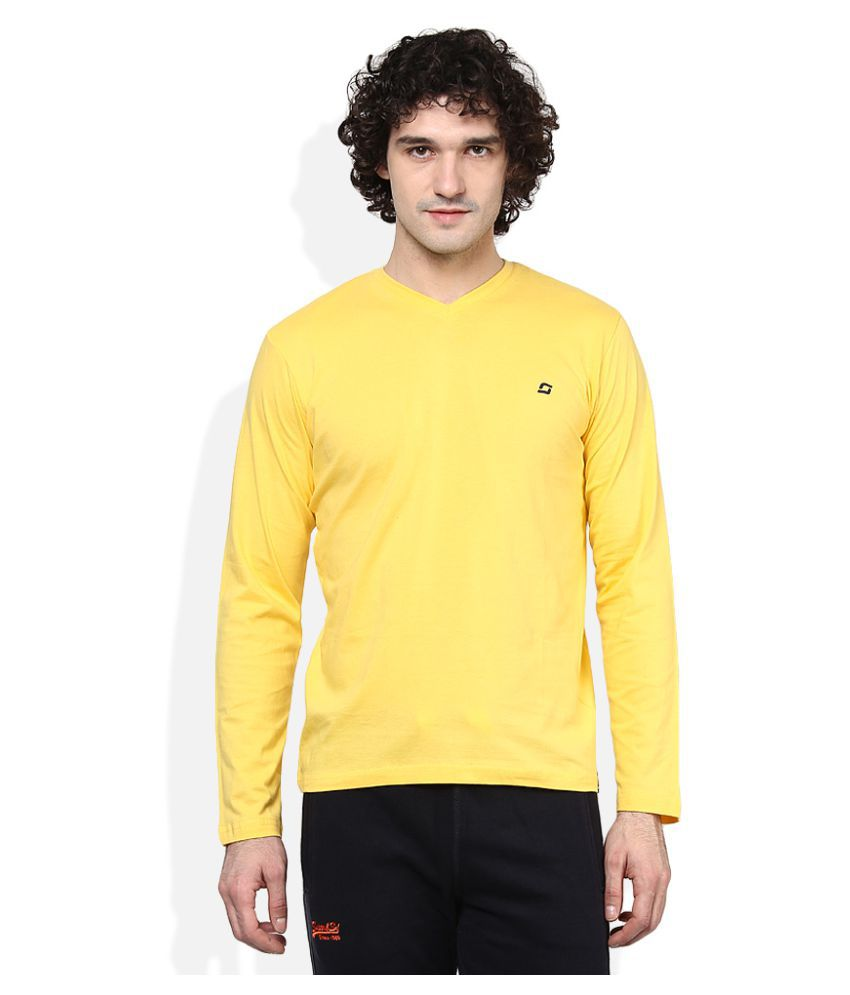 SDL By Sweet Dreams Yellow V-Neck T-Shirt