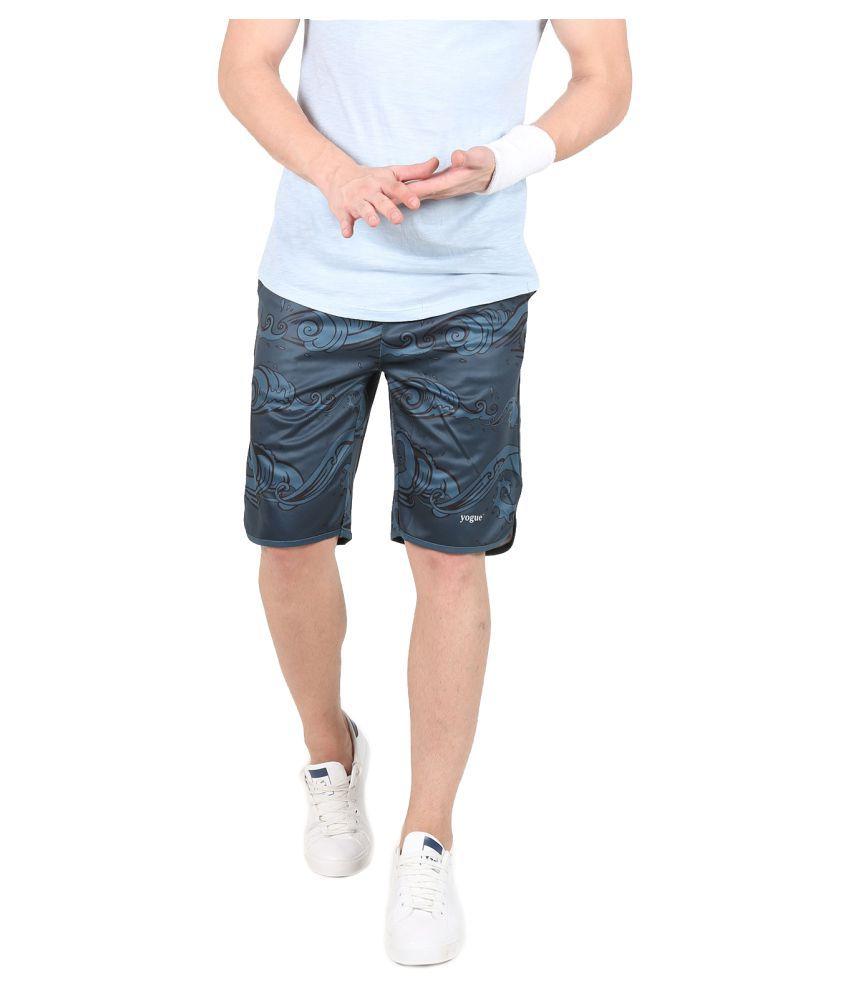 Yogue Grey Polyester Crossfit Shorts