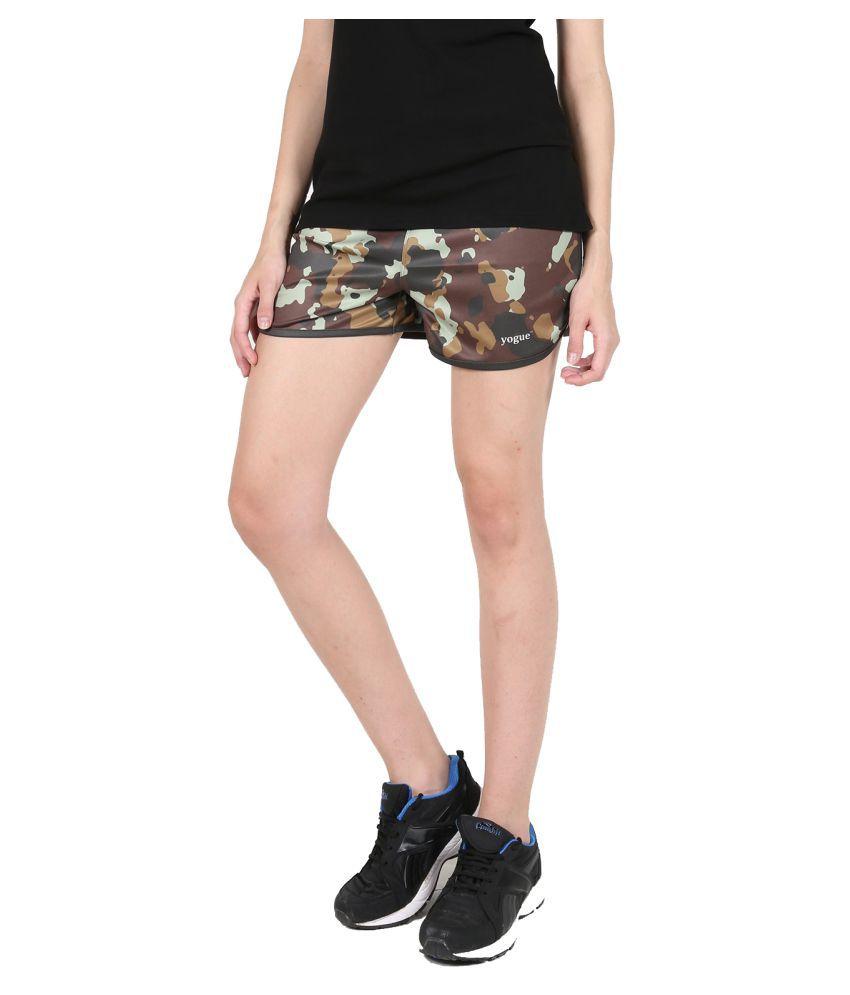 Army Printed Running Shorts