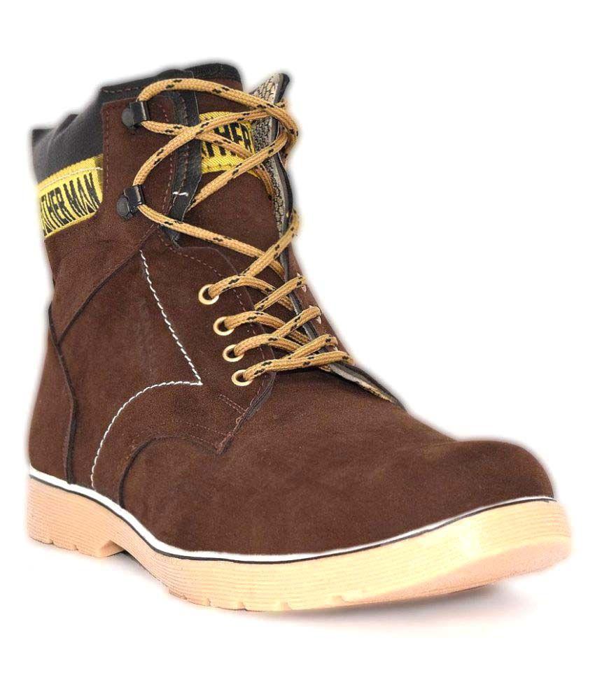 Aleg Brown Casual Boot