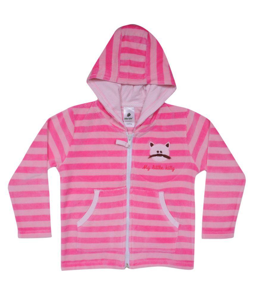 Bio Kid Full Sleeve Striped Girls Jacket