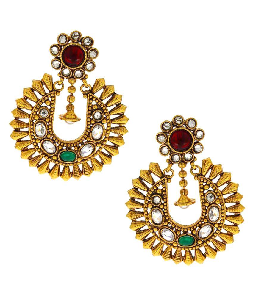 Anuradha Art Golden Colour Classy Traditional Earrings For Women/Girls