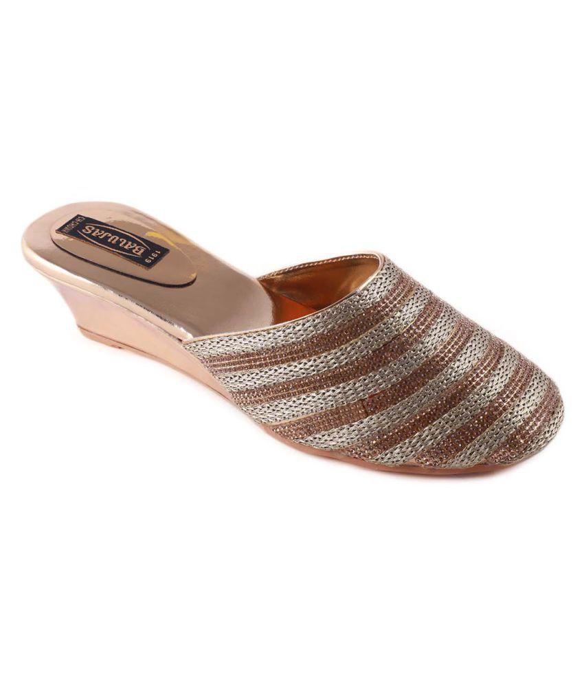 Balujas Gold Heels