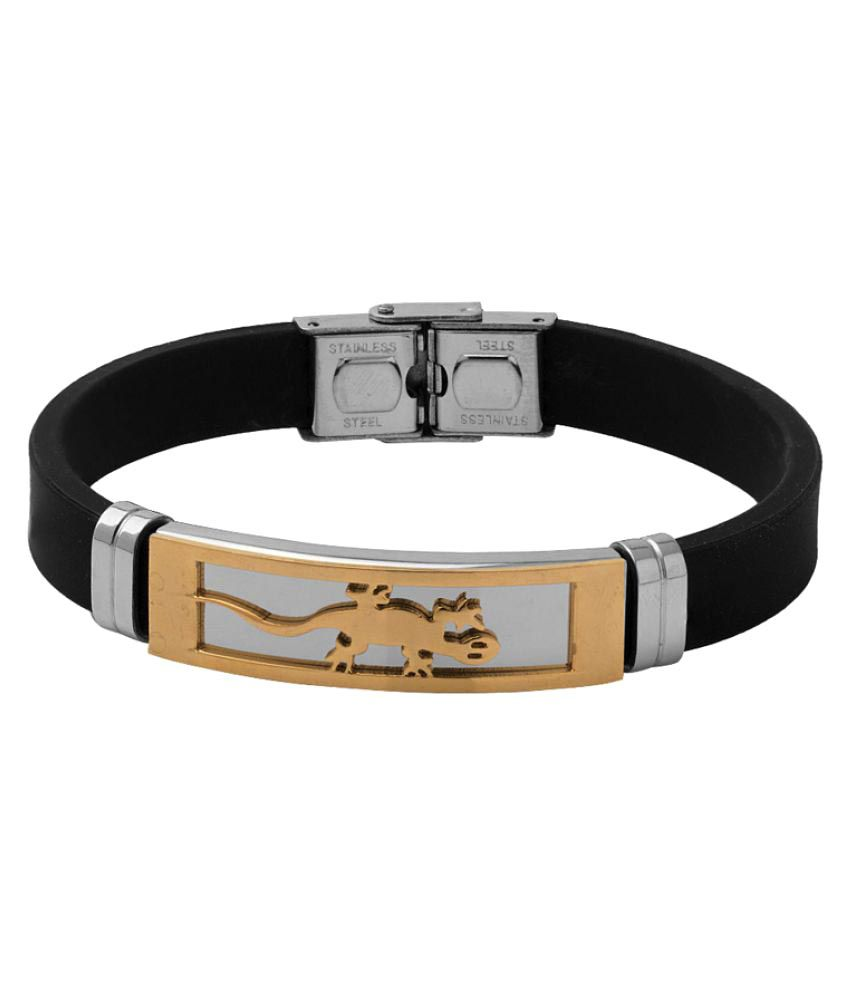 Dare Black Stainless Steel Bracelet