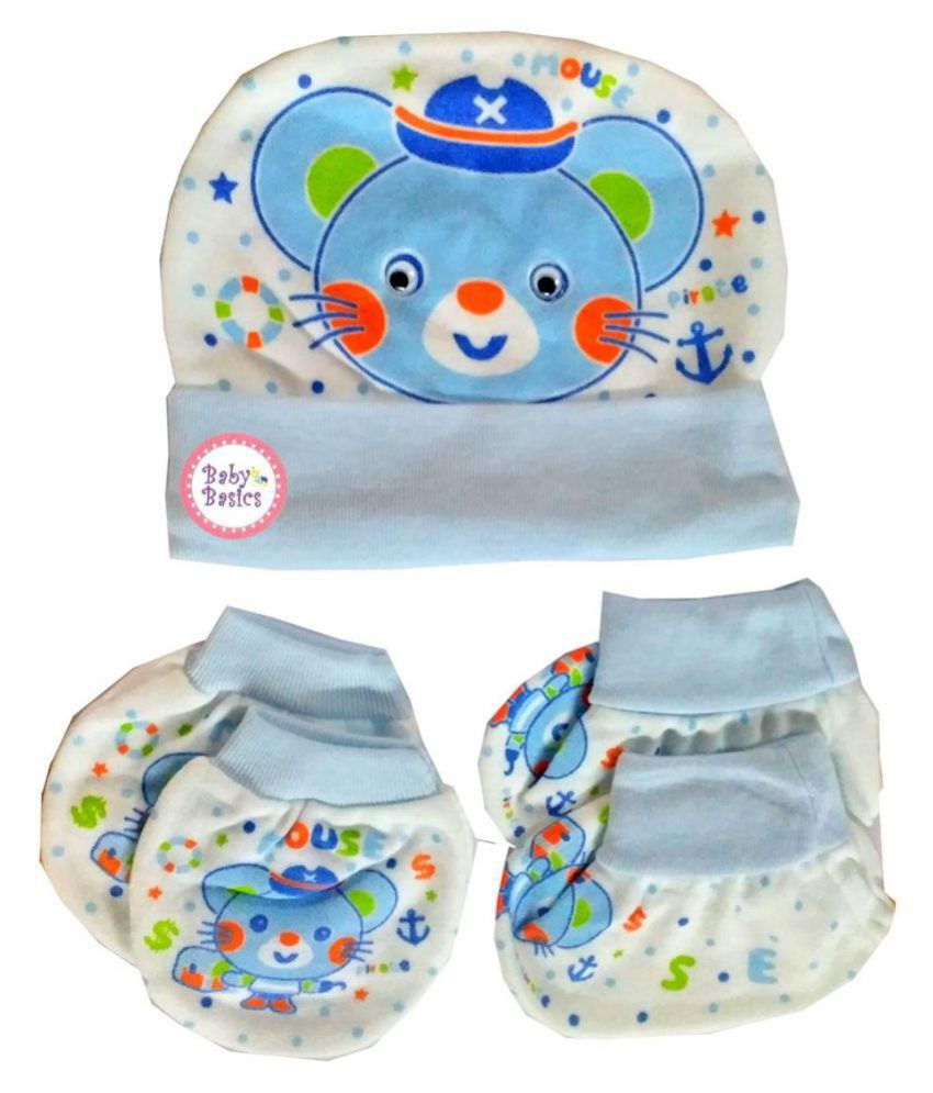 Baby Basics - Cap Mitten Booties Set - Multi  Buy Online at Low Price in  India - Snapdeal f99102bf8b5