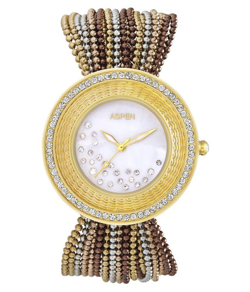 Aspen Multicolour Brass Analog Watch