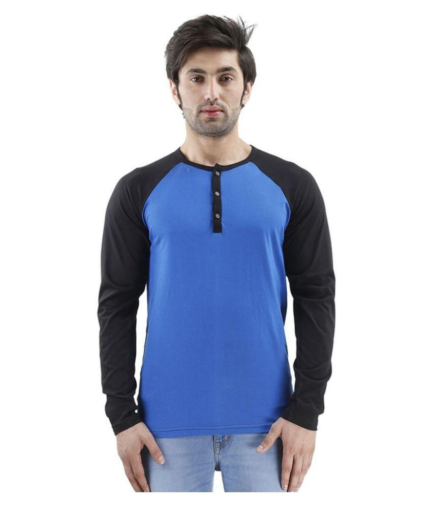 Urbano Fashion Blue Henley T-Shirt