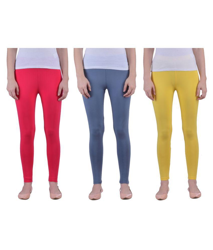 a02c39d09e407e Dollar Missy Cotton Lycra Pack of 3 Leggings Price in India - Buy Dollar  Missy Cotton Lycra Pack of 3 Leggings Online at Snapdeal