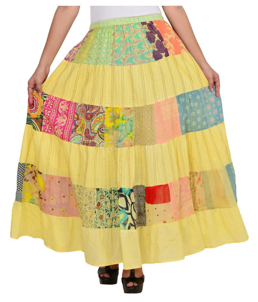 f5de7fe073 Buy VS Fashion Cotton Circle Skirt Online at Best Prices in India - Snapdeal