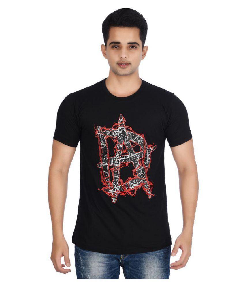 Attitude4u Black Round T-Shirt