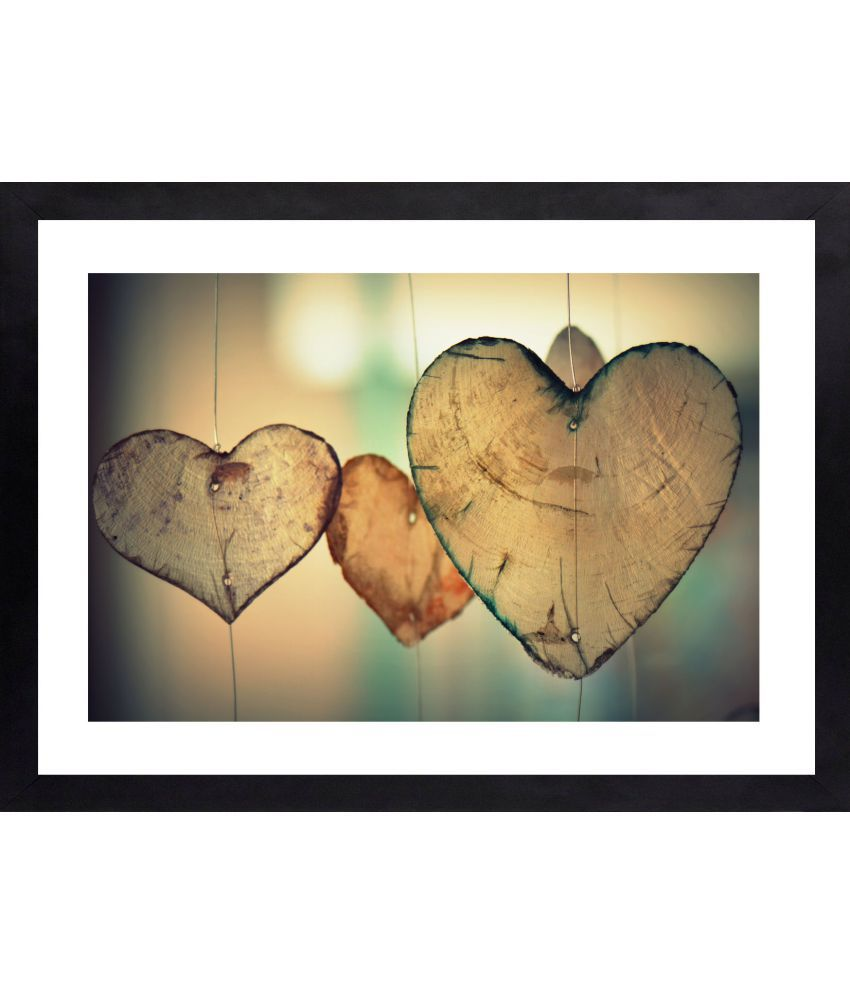 Craftsfest Hanging Love Sign Glass Painting With Frame Single Piece