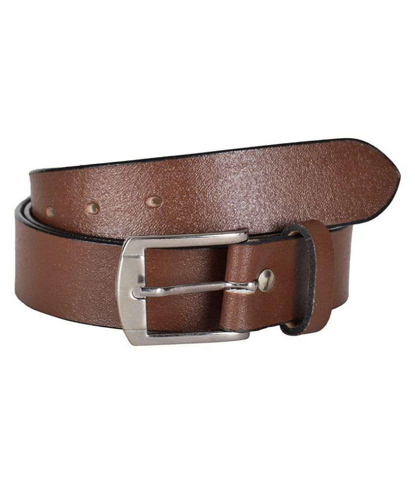 Sme Jaipur Brown Leather Formal Belts