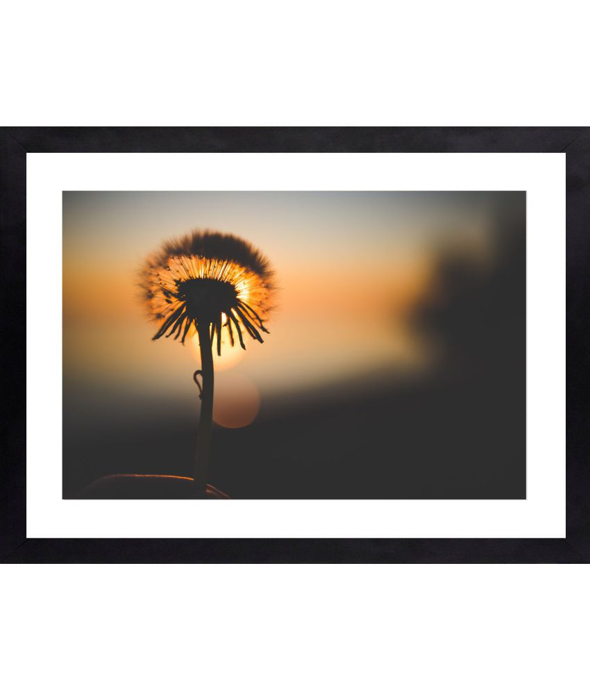 Craftsfest Awesome Flower Glass Painting With Frame Single Piece