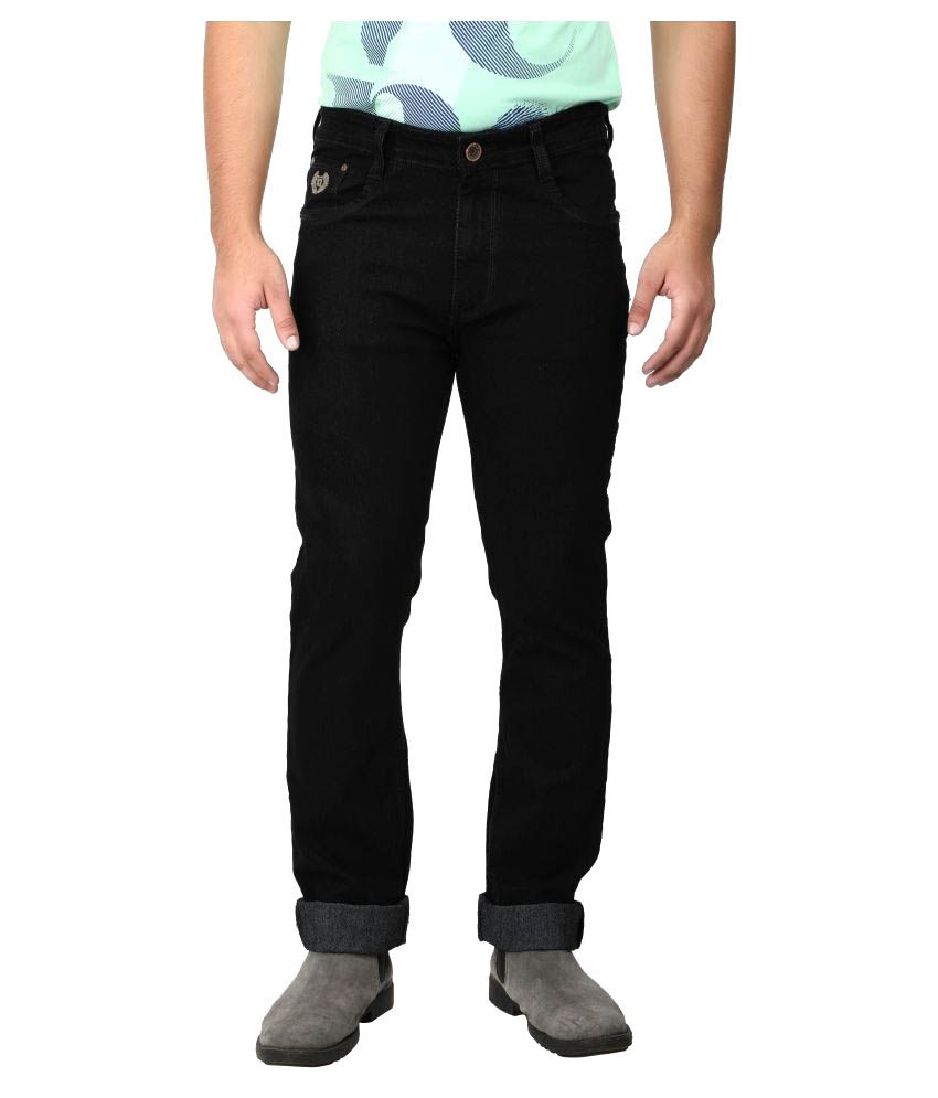 Asaba Black Regular Fit Jeans