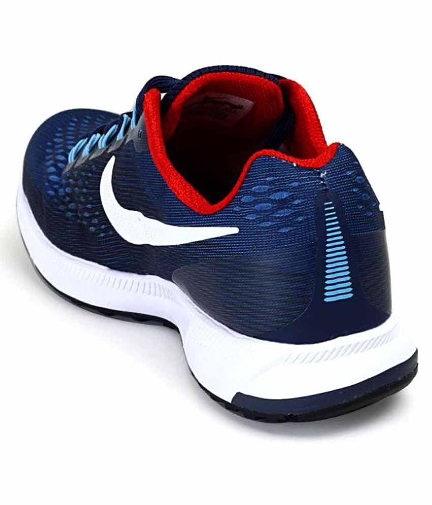 cheap for discount ba676 d7436 Nike Air Zoom Pegasus 34 Shoes Navy Blue Training Shoes