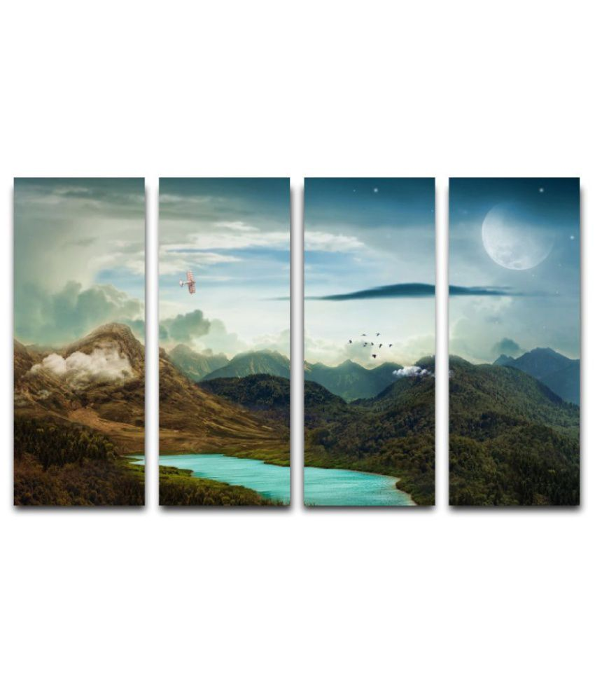Esfore Sunboard Painting Without Frame Set of 4