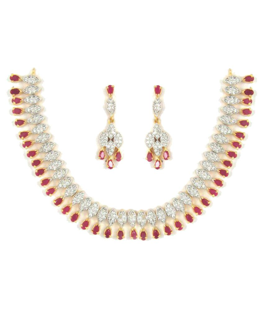 Anjali Jewellers Multi Colour Designer Necklace Set - Buy Anjali ...