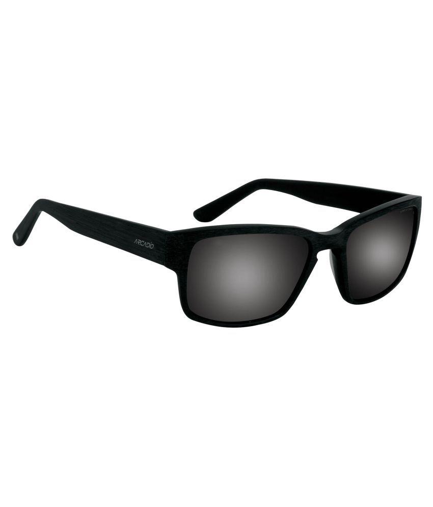 Arcadio Grey Rectangle Sunglasses ( AAR173BK-GYP )